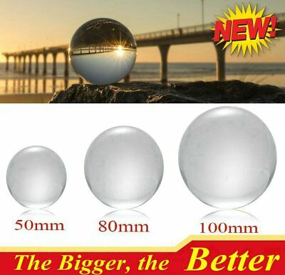 100mm Clear Crystal Quartz Ball Stand Magic Sphere Healing Gift HOT OY US