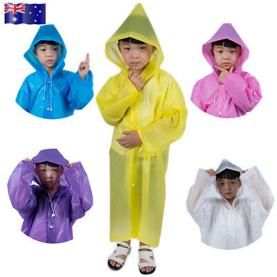 Hooded Waterproof Poncho Rain Coat Jacket for Kids Children Raincoat Poncho AU