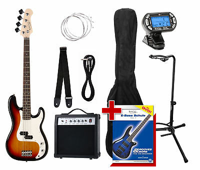 Guitare Basse Set Pour Debutants Amplificateur Corde Support Sac Accordeur Cable