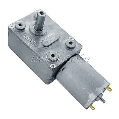 DC 12V 40rpm Worm Geared Motor With Gear Reducer Turbo Motor for Door,Window
