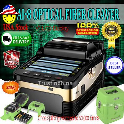 Signal Fire Ai-8 Intelligent Optical Fiber Fusion Splicer Cleaver 50000 Times US