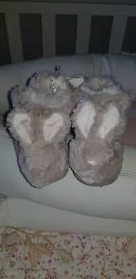 White company baby slippers