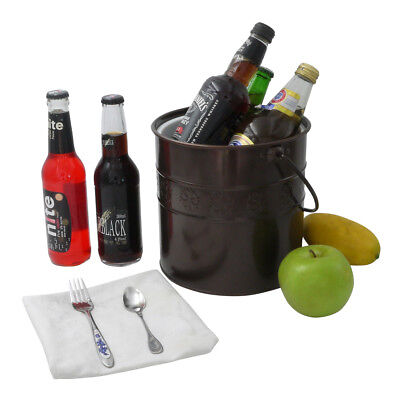Finether 3L Double-Wall Ice Bucket Wine Chiller Handle Tong Iron Ice Container
