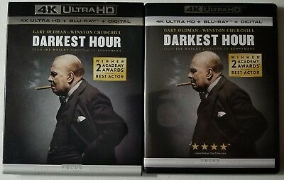 Darkest Hour 4K Ultra Hd Blu Ray 2 Disc Set + Slipcover Sleeve Free Shipping