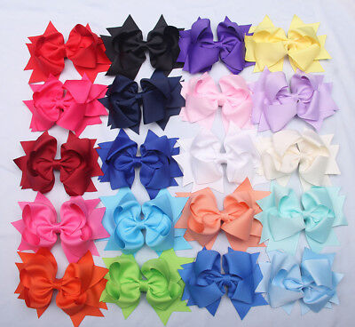 20 Pcs 5 Inches LOT Baby Girls Hair Bows Alligator Hair Clips-Baby Girl Gift Set