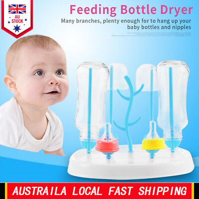 Baby Bottle Dryer Rack Cleaning Drying Rack Shelf Kitchen Feeding Holder Tools B