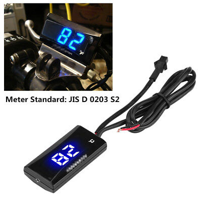 12V Motorcycle LCD Digital Thermometer Meter Instrument Water Temperature Gauge