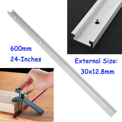 Aluminium 600mm/24 Inch T-Slot T-Track Miter Track Woodworking Tools Alloy Kit