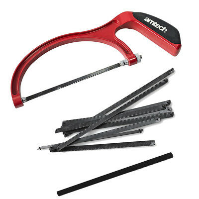 Junior Hack Saw 6 Inch Heavy Duty Hacksaw & 12 Spare Blades Amtech Bundle