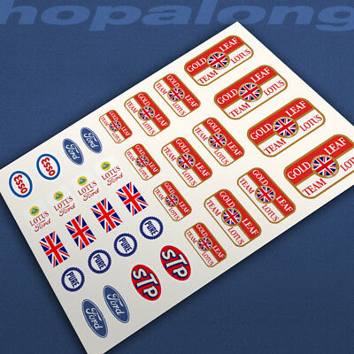 Scalextric/Slot Car Waterslide Decals. nsw027