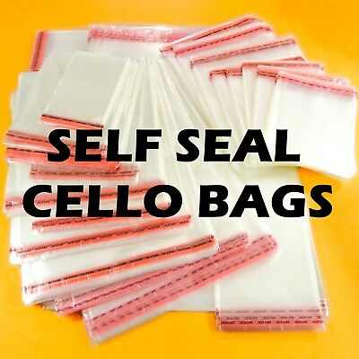 Clear Cellophane Cello Bag Self Seal For Cards Wrap Party Gift Sweet Large Small