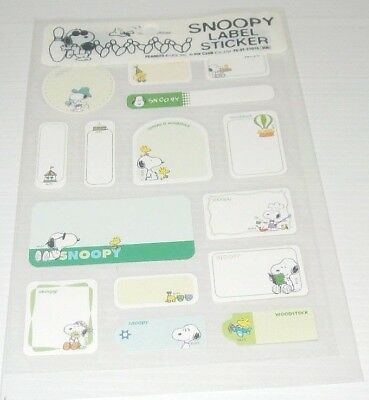 Snoopy Label Stickers ~ Green