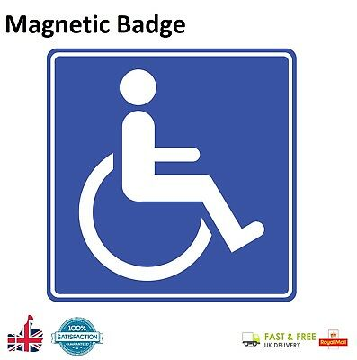 MAGNETIC DISABLED BADGE CAR SIGN Window Blue Disable Person Permit Board Sign UK