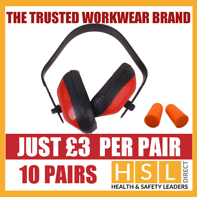10 PAIRS Ear Defenders Adjustable Head Band  / Disposable Ear Plugs SNR 27dB