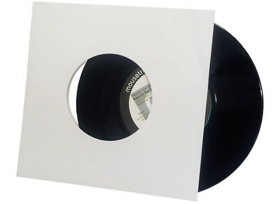 "10 WHITE CARDBOARD OUTER COVER SLEEVES JACKETS FOR 7 "" inch 45 rpm VINYL RECORDS"