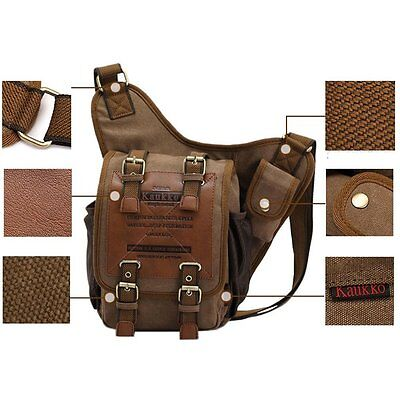 5ee0e264e7 Men Tactical Canvas Leather Messenger Shoulder Bag Satchel Travel Hike  Newest