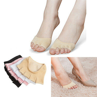 Sweat Absorb Invisible Soft Foot Care Unisex Forefoot Nursing Toe Socks PB
