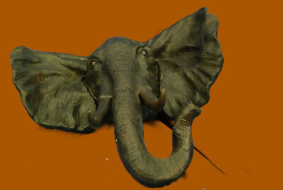 Bronze Sculpture Massive Very Heavy Wall Hanging Elephant Animal Statue Sale