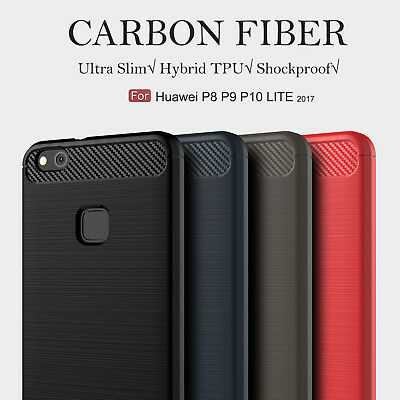 For Huawei P20 P8 P9 P10 Lite 2017 Shockproof Silicone Hybrid Case Soft TPU