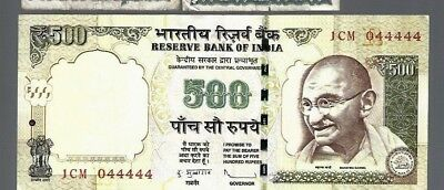 India 500 Rupees SOLID 4 S/N#044444