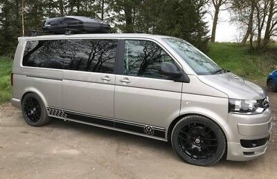 VW Transporter T5 Side Stripes VW Dub T4 LWB Graphics Decals Stickers any colour