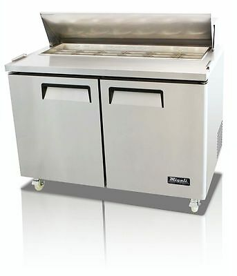 Migali C-Sp48-12 12 Pan Sandwich Prep Refrigerated Two Solid Doors