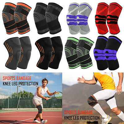 Sports Knee Brace Support Breathable Sleeve Compression For Running Knee Pads