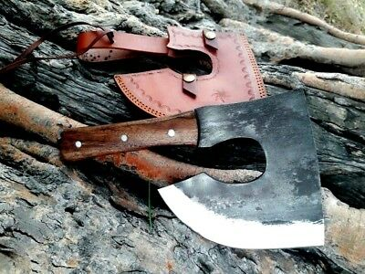 MDM Vintage Forged Chef Cleaver Butcher Chopping beef Slaughter Kitchen Knife X