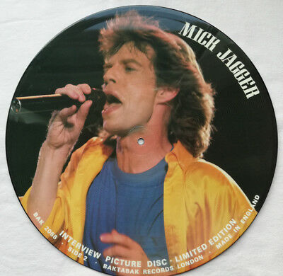 Vinyl, Mick Jagger ‎– Limited Edition Interview Picture Disc, BAK 2068