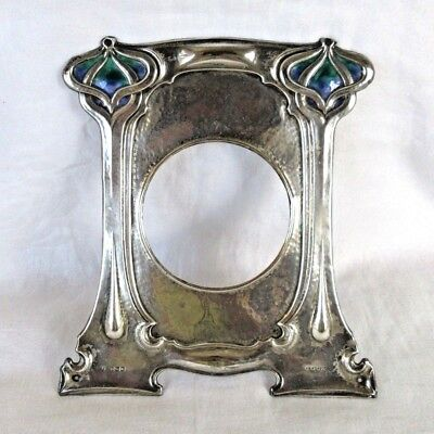 Art Nouveau WILLIAM HUTTON & Son's 1922 STERLING / ENAMEL PICTURE FRAME Only