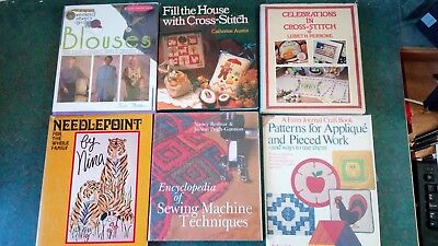 Lot of 17 assorted craft books - Sewing, Quilting, Cross Stitch, Clothes, ect