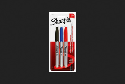 Sharpie 30173 Pen Style Fine Point Permanent Marker, 3 Pieces, Assorted 6 Pack