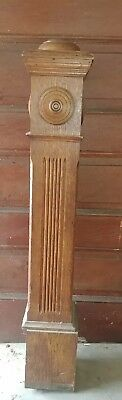 antique oak newel post