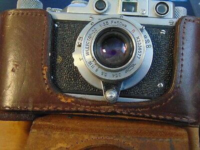 Zorki Zopkuu 35mm Camera w/ 1:3.5/50mm Lens,Made in USSR