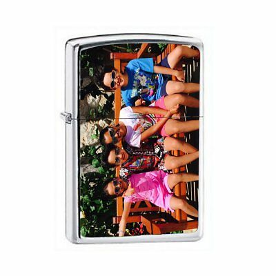 Zippo Custom Lighter Customize Color Printed Photo High Polished Chrome 250 Gift