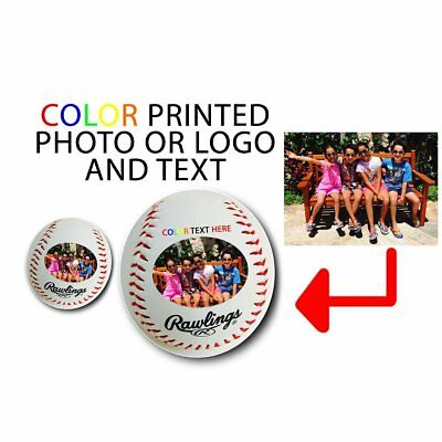 Custom Customized Personalized Your Picture Here Synthetic Leather Baseball Gift