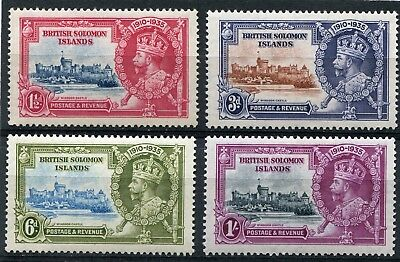 1935 Silver Jubilee British Solomon Islands set mounted mint