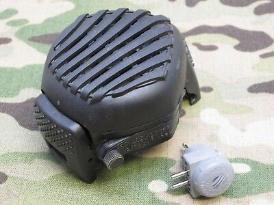 Avon Gas Mask M50/c50 Voice Amplifier Loud Speaker Projection Unit W/ Microphone