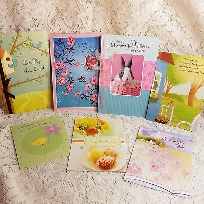 Hallmark Easter Greeting Cards Mixed Assorted Lot of 7 Wife Mom Husband Anyone
