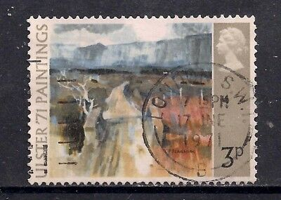 GB 1971 QE2 3p Ulster Paintings used stamp SG 881 London pmk  ( K523 )