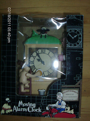 Wallace & Gromit Animated Analog Alarm Clock, MIB, Aardman Animations