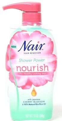 1 Nair Hair Remover Shower Power Nourish Japanese Cherry Blossom Rice Oil 13 oz