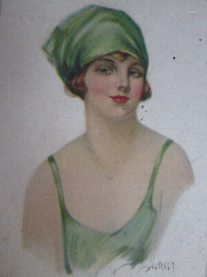 Vintage Ink Blotter Advertisement ENO Advertising Agency Durham NC Pretty Lady