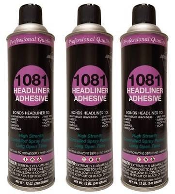 Package of 3 V&S #1081 Spray Headliner Adhesive