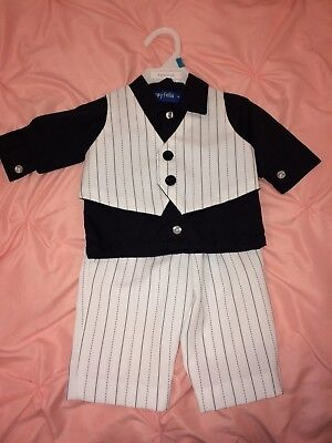 Baby Boy's Dress Suits Size 3/6Months 3 Piece Dress wedding Outfit Clothes