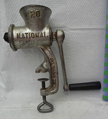 vintage metal mincer table worktop clamp  National use kitchen display