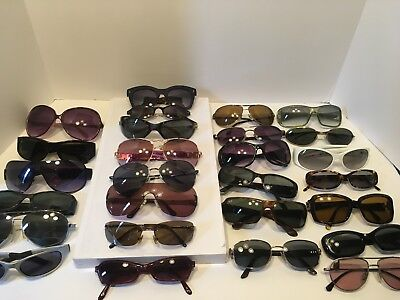 Name brand sunglasses lot of 27- some small damage- scratches