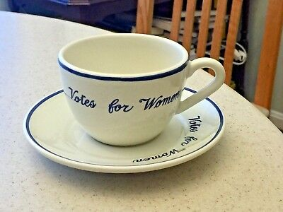 Superb Votes for Women Preservation Society of Newport County Cup & Saucer
