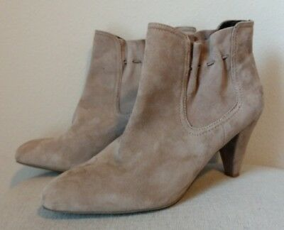 4fd540a0d834b6 Banana Republic gray suede leather Ankle Boots bootie heels size 7 7M Womens