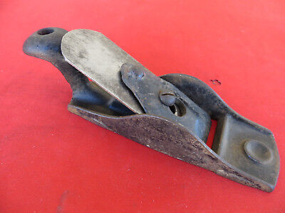 Antique Unmarked Squirrel Tail Block Plane Cast Iron Early Stanley? Vintage Tool
